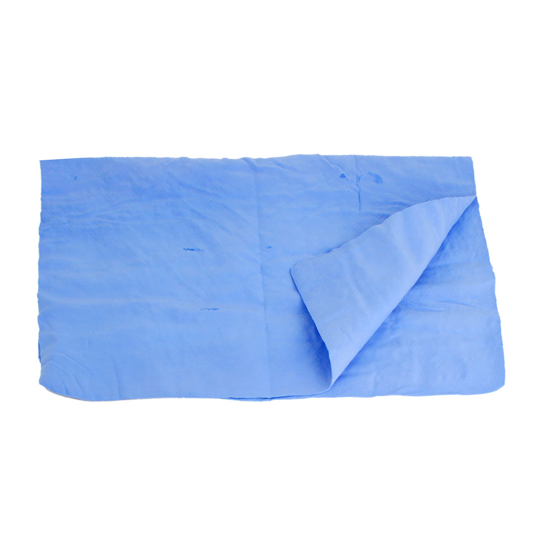 Sky Blue Synthetic Chamois Cleaning Cham Towel 42cm x 33cm for Car Furniture