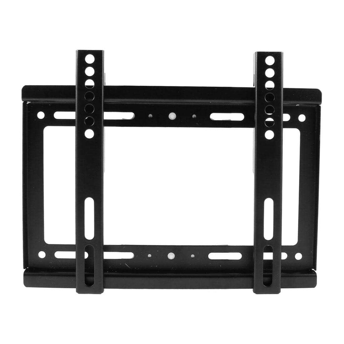 "Black Metal 14""-42"" LCD LED Flat Panel Screen Wall TV Mount Bracket"