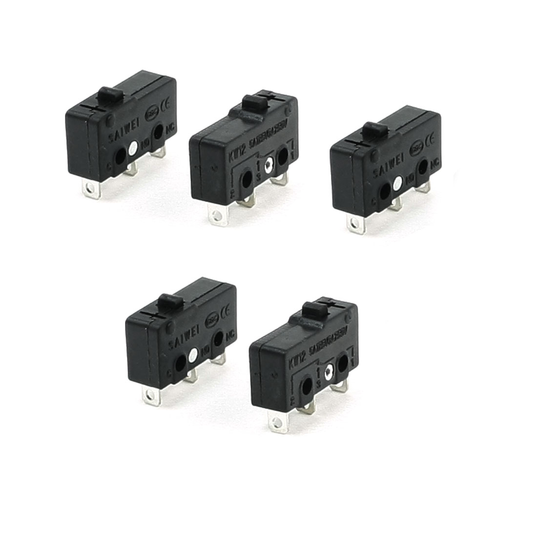 5 x 3-Terminal SPDT 1NO 1NC Momentary Micro Switch 3A/250VAC 5A/125AC
