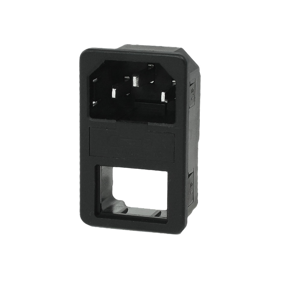 Cut Out Rocker Switch Holder IEC 60320 Male Power Supply Plug 10A AC 250V