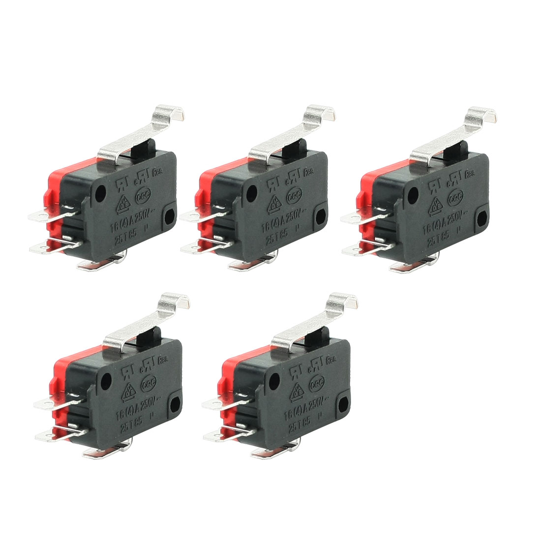 AC 16A/250V 4A/250V Arch End Actuator Limit Micro Switch 5 Pcs