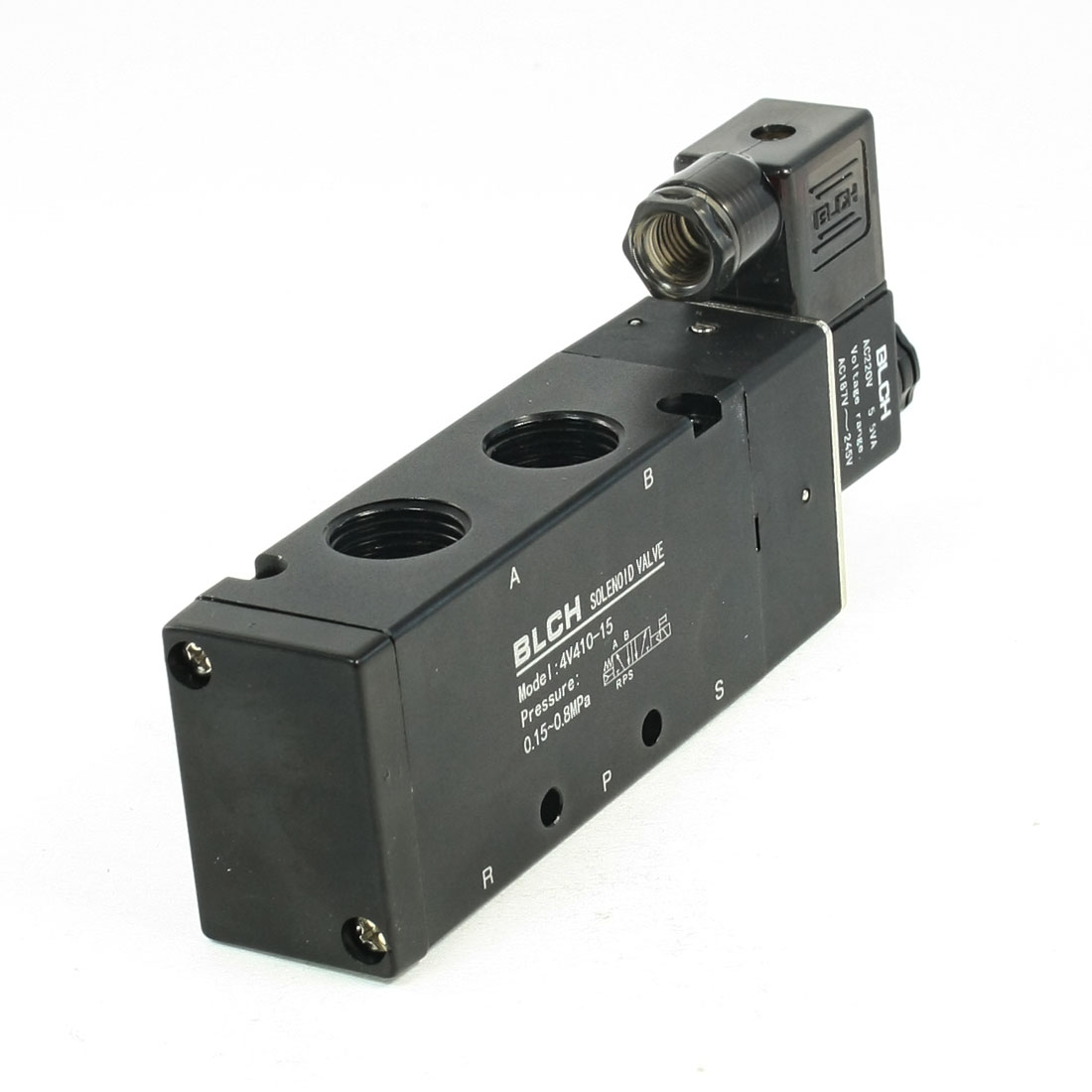 5 Ways 2 Position 4V410-15 Model Pneumatic Solenoid Valve AC220V 5VA