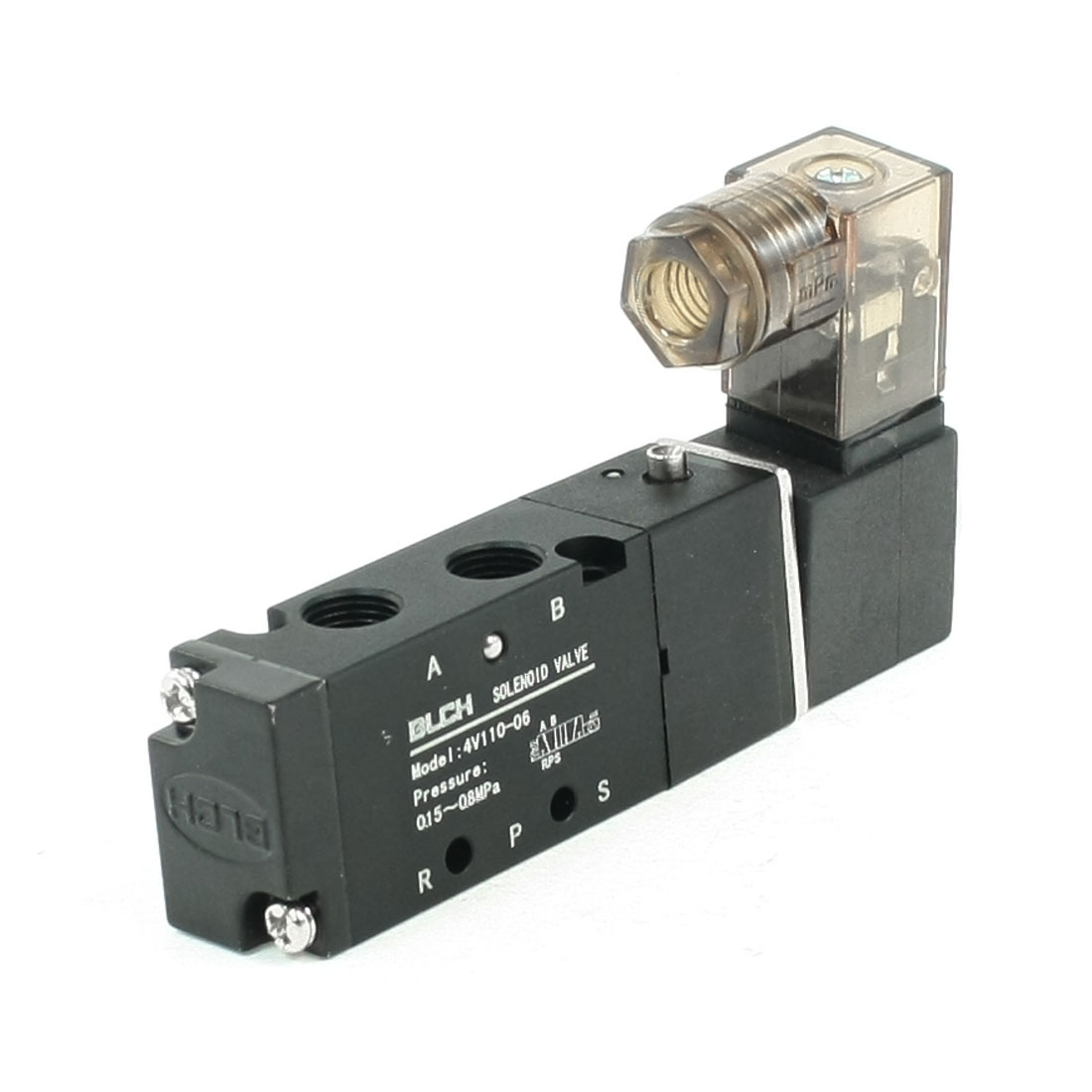 "AC220V Single Coil 2 Position 5 Ports 1/8"" Electric Solenoid Valve"