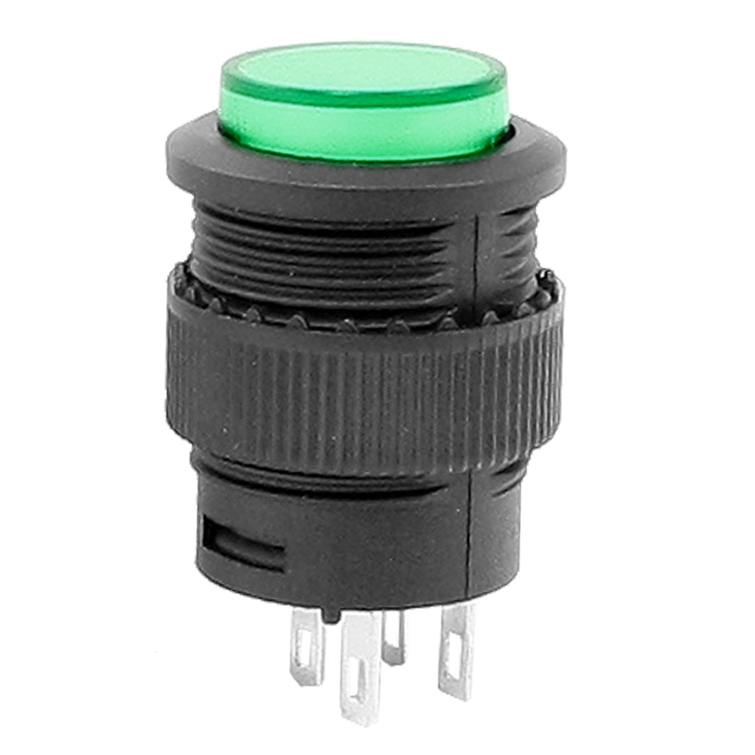 DPDT Green Round 4 Terminal Momentary Push Button Switch AC 250V 1.5A 125V 3A