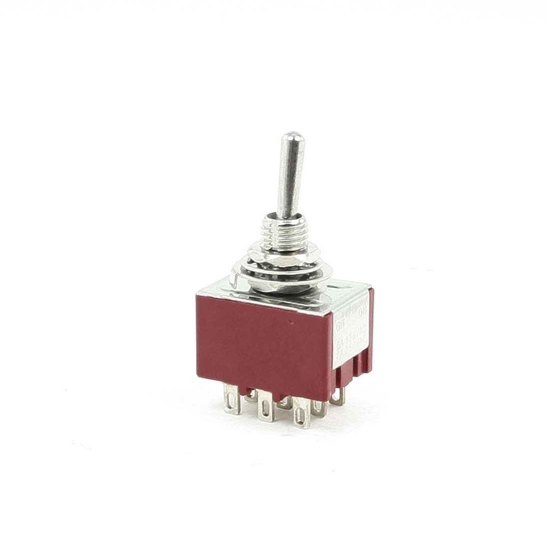 3PDT ON/ON 2 Position Panel Mounted Toggle Switch 6A/125VAC 2A/250VAC