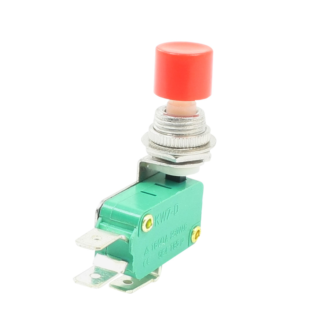 AC 250V 10A Momentary Emergency Stop Push Button Switch 12mm Thread Dia