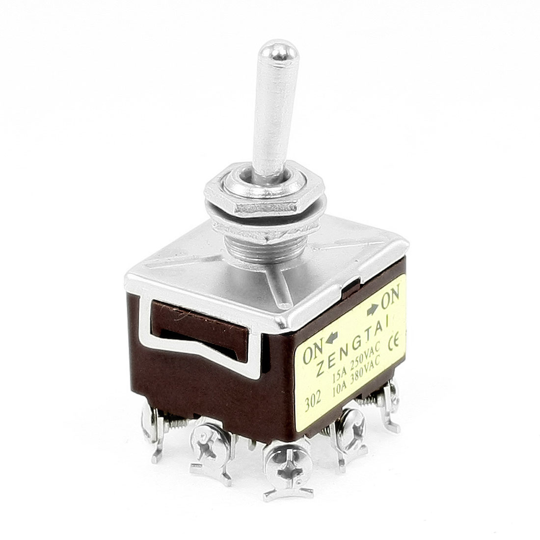 10A/380VAC 15A/250VAC 9 Pin 3PDT ON/ON 2 Position Toggle Switch