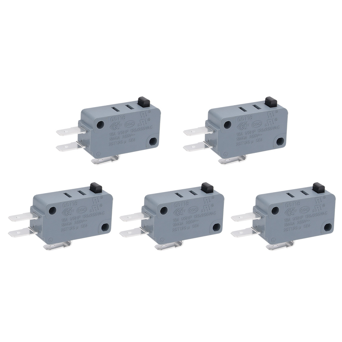 AC 250V 16A 4A Micro Limit Switch Button SPDT Momentary Snap Action 5 Pcs
