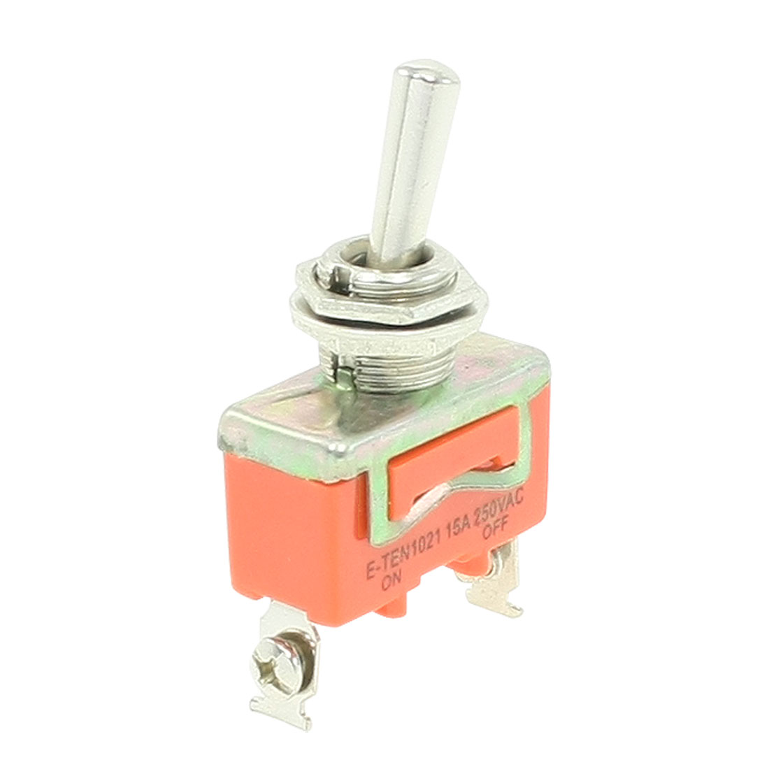 15A 250VAC ON/OFF SPST 2 Position 2-Terminals Toggle Switch