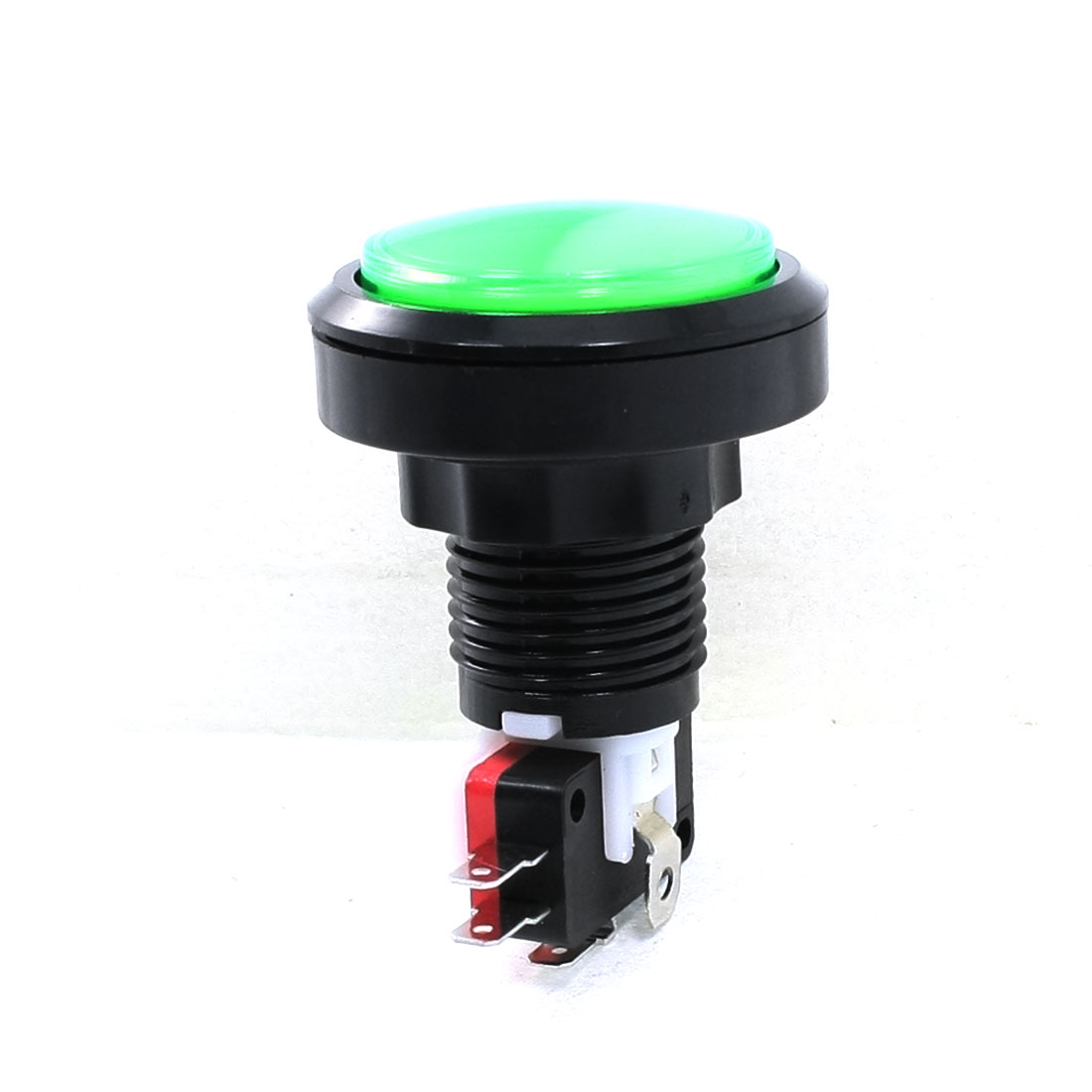 Normally Closed Green Round Button Push Button Switch AC 250V 10A
