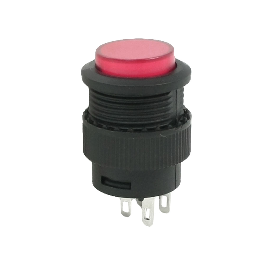 Red Round Cap SPDT 4 Pins Momentary Push Button Switch AC 250V 1.5A 125V 3A