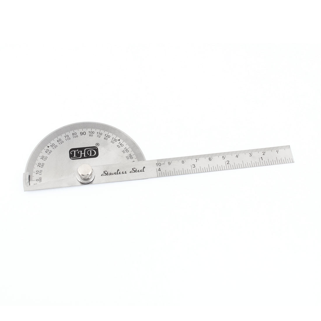 "Student Stainless Steel Angle Gauge Protractor w 4"" Measure Straight Ruler"