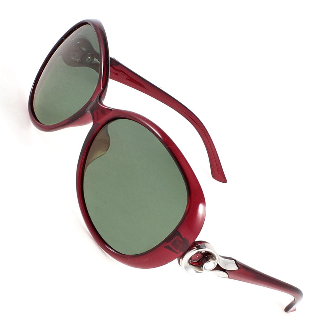 Ladies Outdoor Sports Rhinestone Detail Eyeglasses Polarized Sunglasses Purple