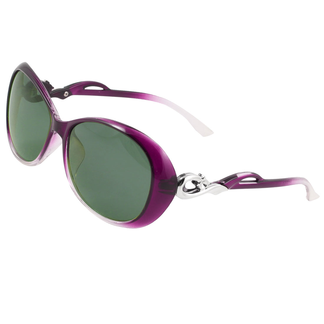 Purple Plastic Full Rim Driving Polarized Sunglasses for Ladies Women