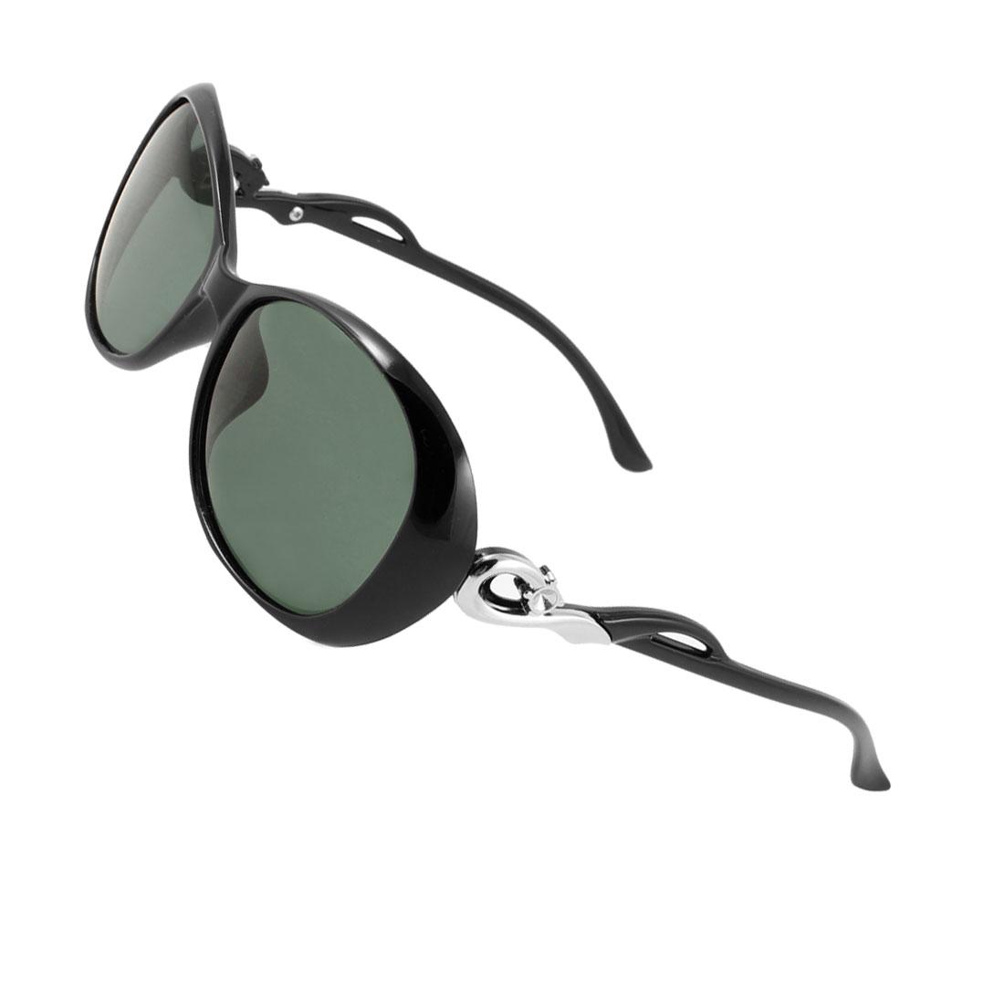 Lady Outdoor Sports Teardrop Shape Lens Eyeglasses Polarized Sunglasses Black