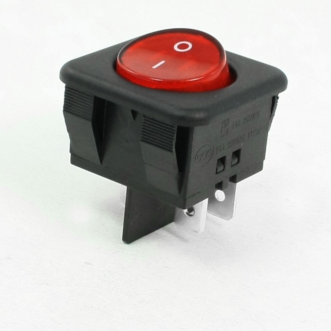 AC 16A 250V DPST ON/OFF 4 Pins Round Rocker Boat Switch Red