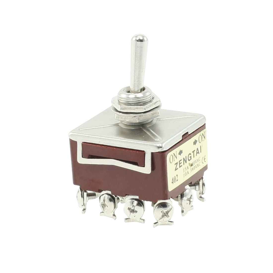 10A/380VAC 15A/250VAC 12 Terminals 4PDT ON/ON 2 Position Toggle Switch