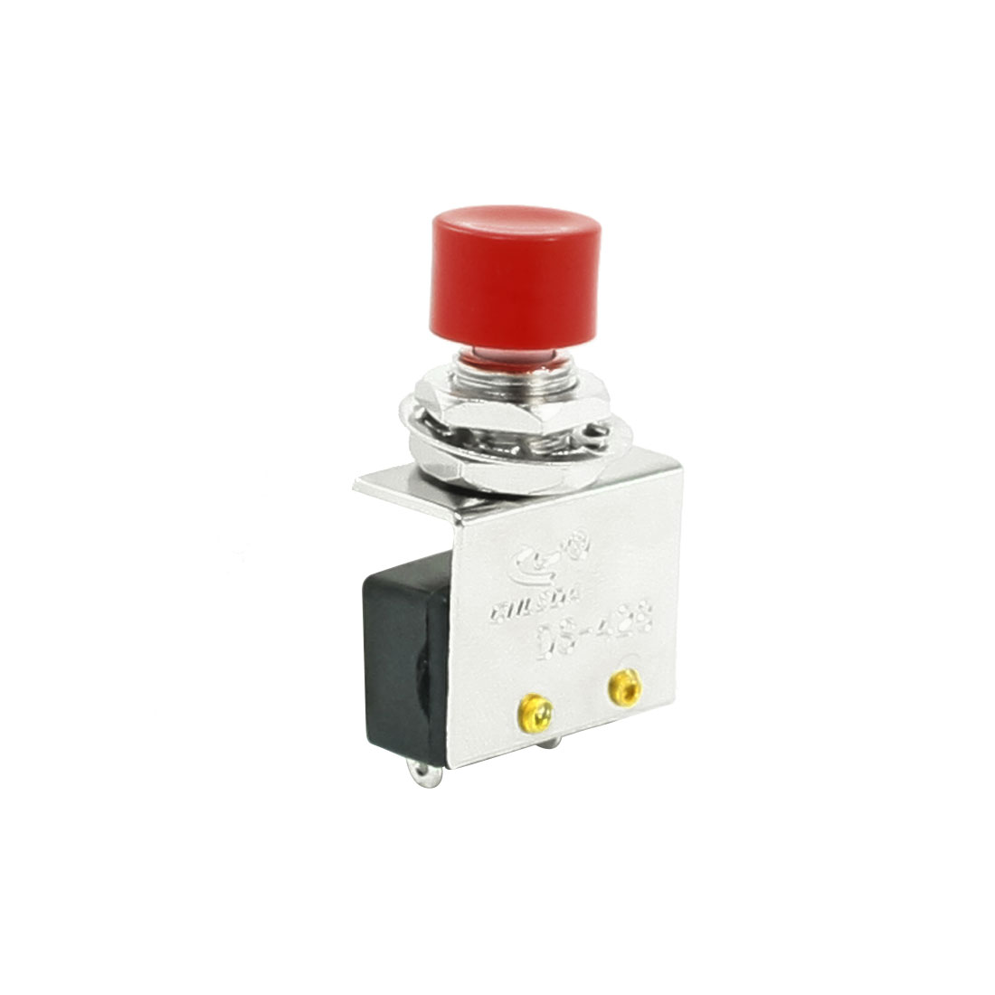 8mm Thread Dia Momentary 1 NO Red Cap Push Button Switch AC 250V 3A