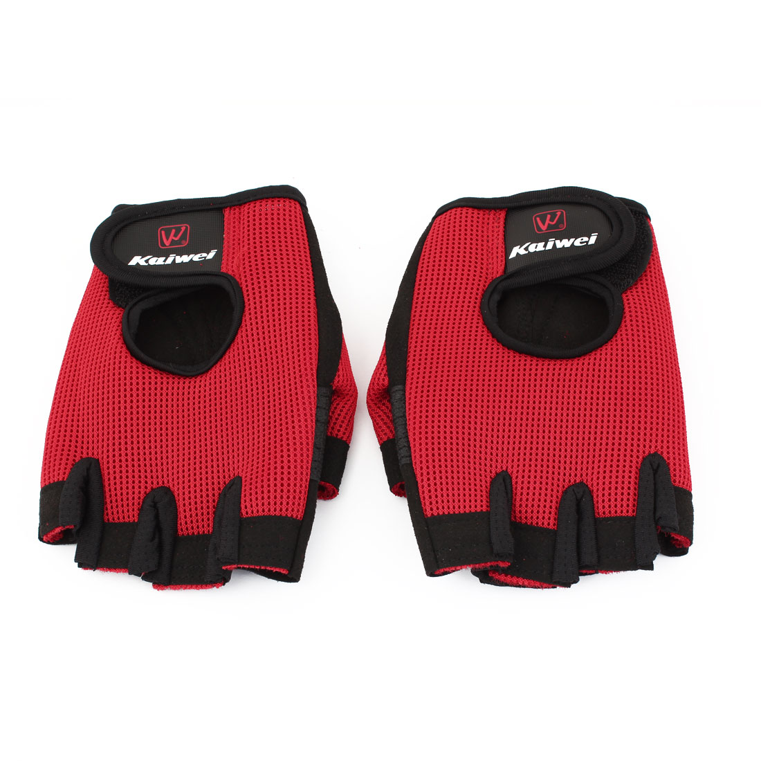 Ladies Hook Loop Fastener Black Red Neoprene Driving Sport Gloves