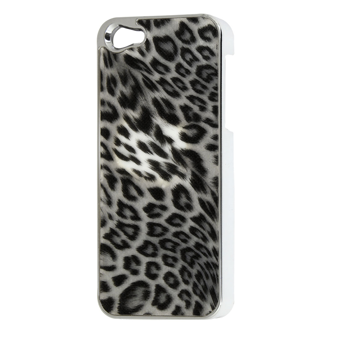 Black Leopard Pattern Hard Plastic Back Case Cover for iPhone 5 5G