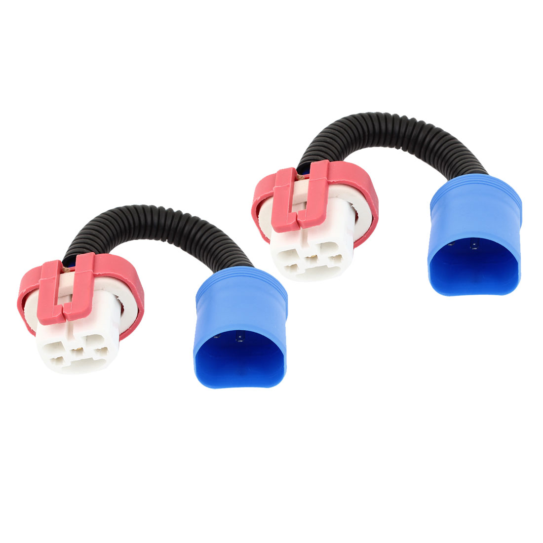 2x 9007 Ceramic Male to Female Harnesss Adapter Socket for Fog Light
