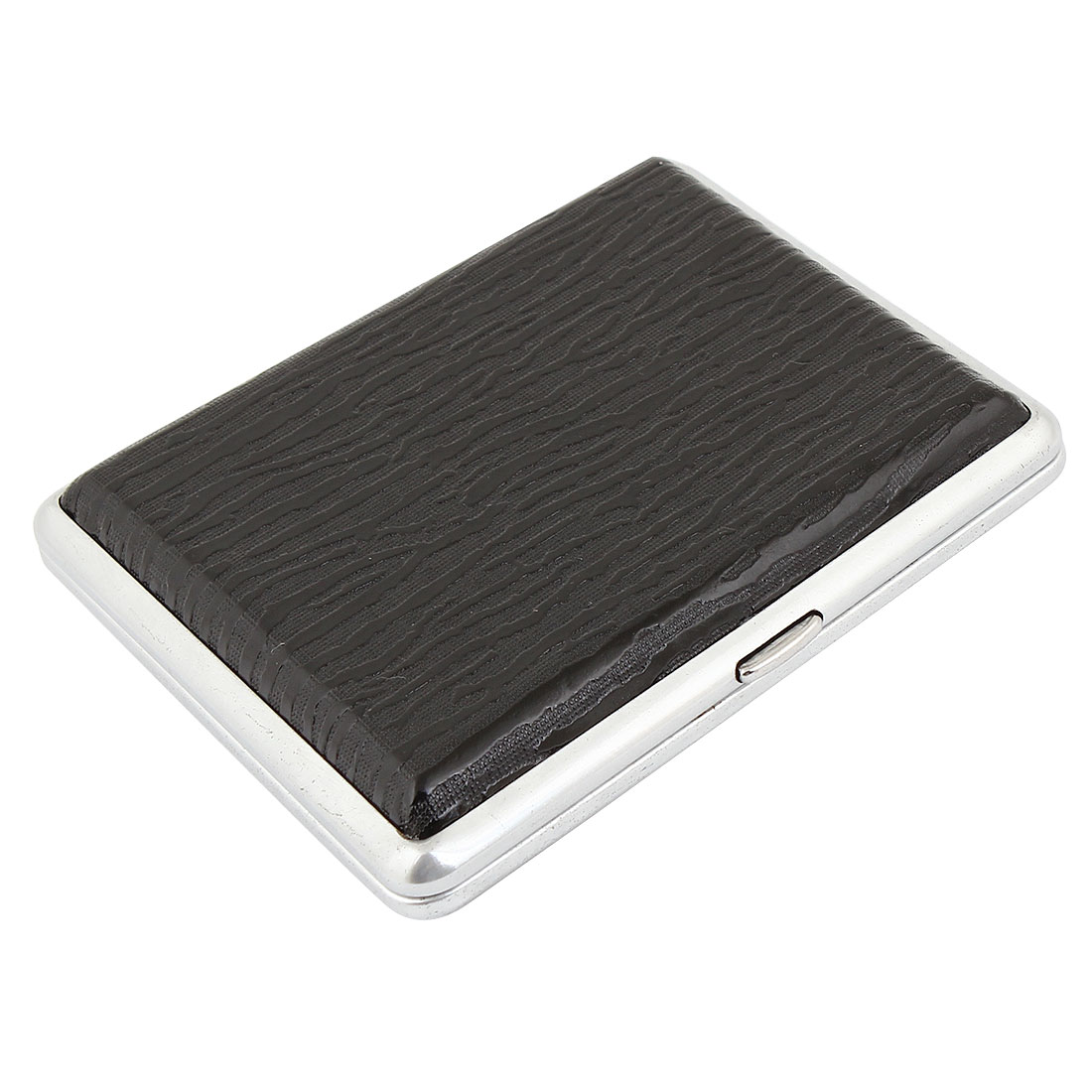 Textured Faux Leather Wrapped Cigarette Holder Case Black
