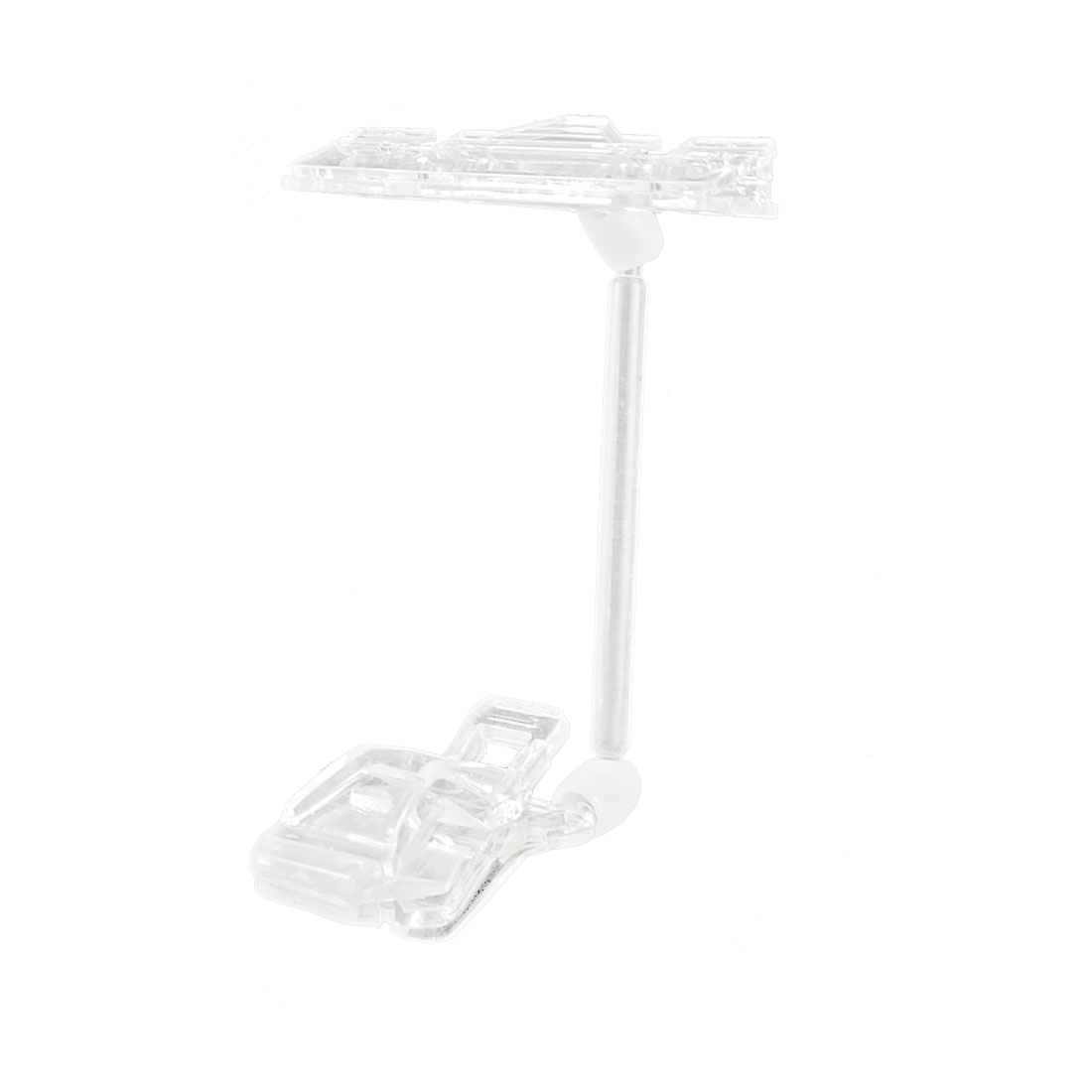 "8.1"" Height Clear Plastic Double Clips Adjustable Pop Sign Card Display Holder"