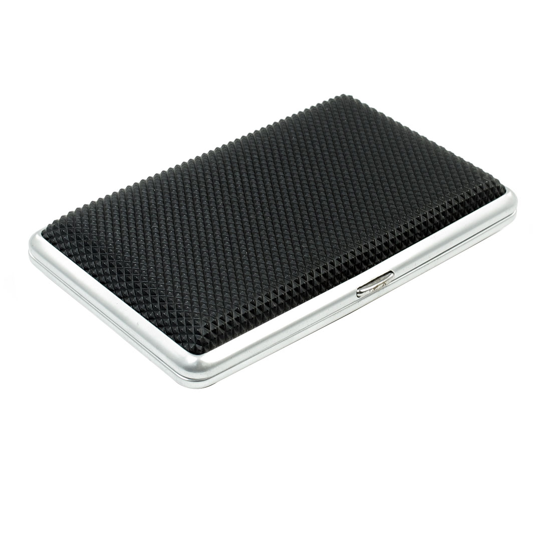 Man Rhombus Pattern Black Plastic Warpped Metal Cigarettes Tobacco Box Case