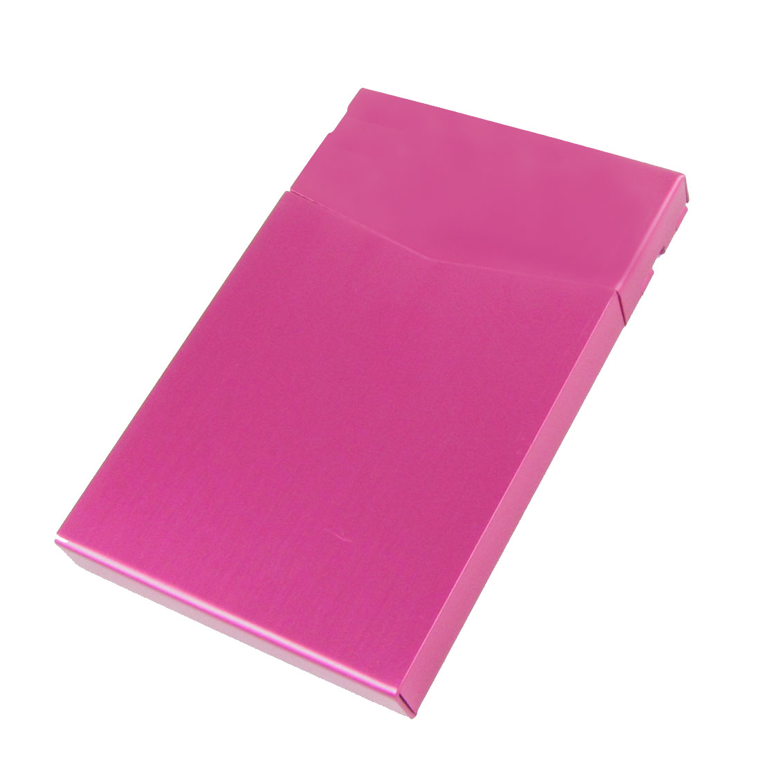 9.2cm Long Aluminium Business Credit Name Card Storage Magenta