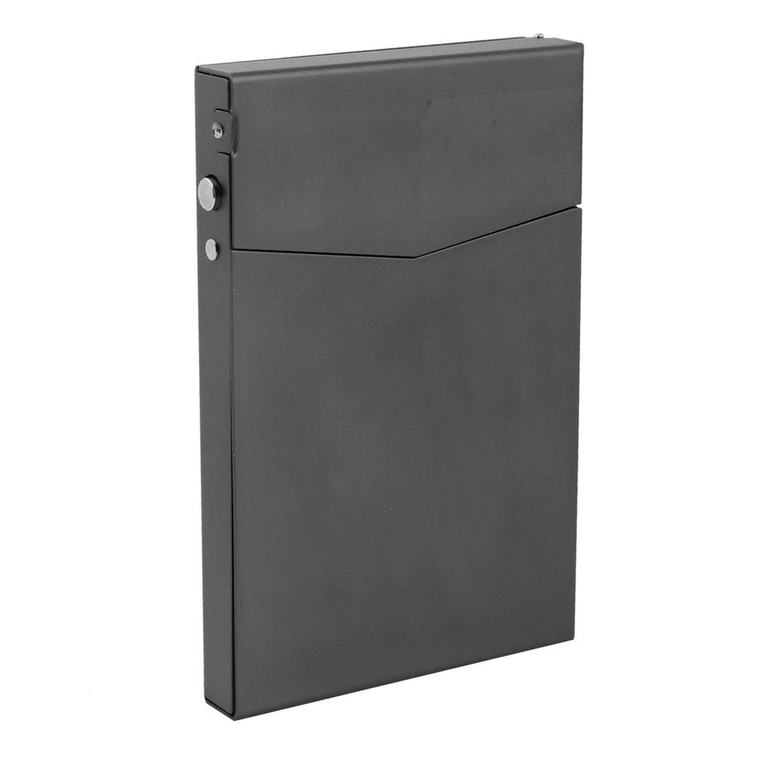 9.2cm x 6cm Aluminium Business Name Cards Organizer Box Gray
