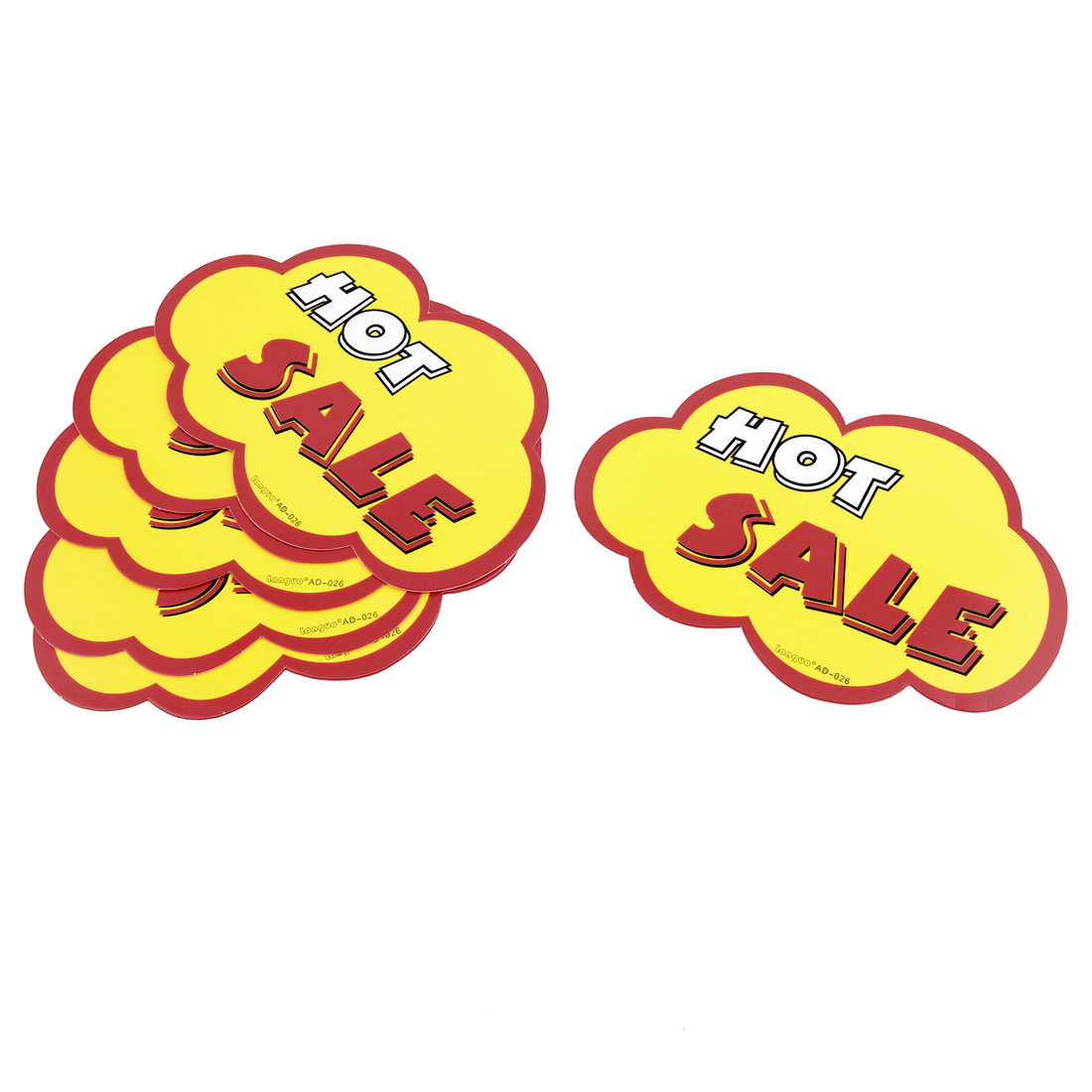 "10pcs ""HOT SALE"" Pattern Shop Store Pop Price Tags Signs Yellow Red White"