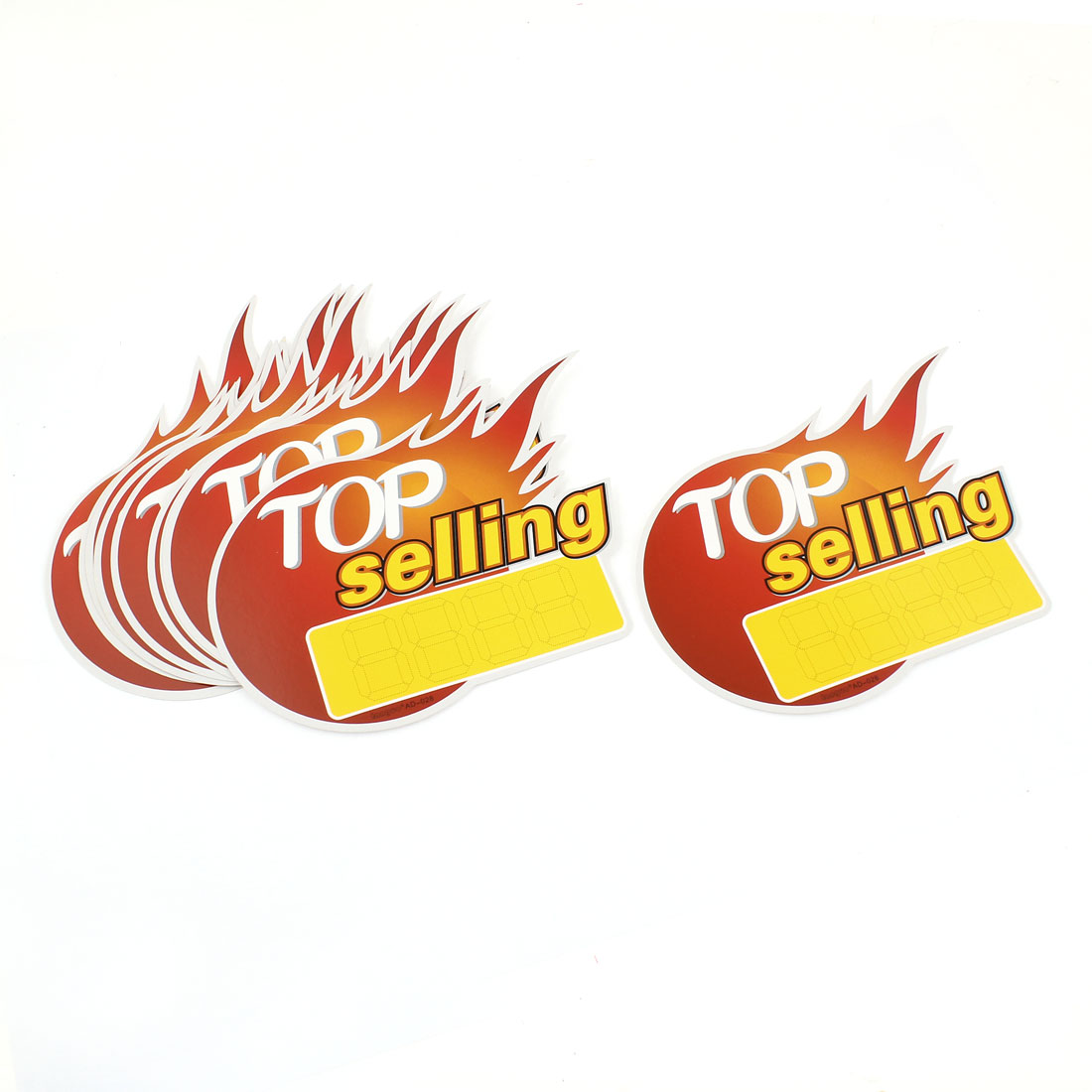 Red Yellow Flame Pattern Supermarket Selling Price Tags x 10