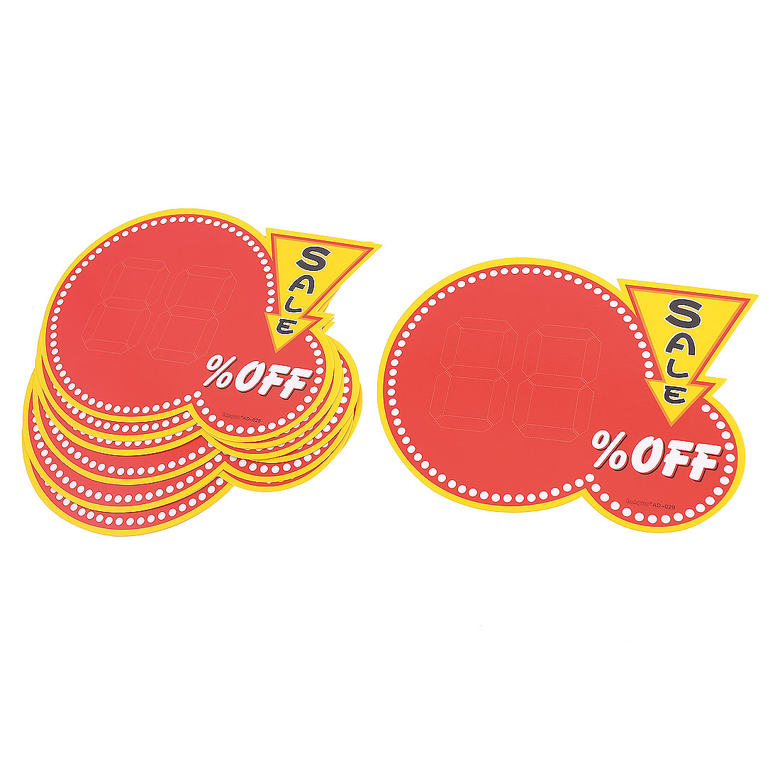 10 Pcs 2-Number Sign Off Sale Printed Advertising Pop Price Tags Paper Cards