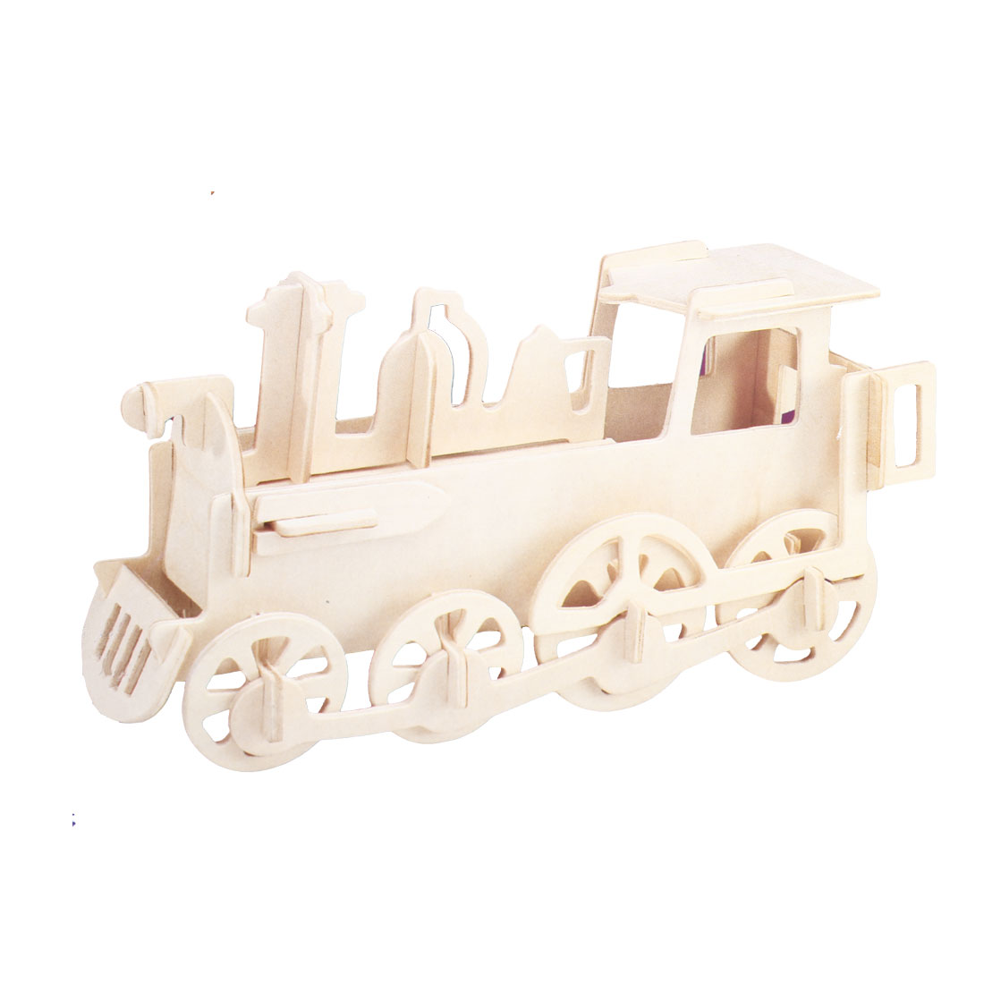 3D Locomotive Model Wood DIY Assembly Puzzled Toy Woodcraft Construction Kit