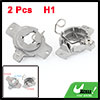 2 Pcs Aluminium HID H1 Bulb Holders Adapters for Benz 320