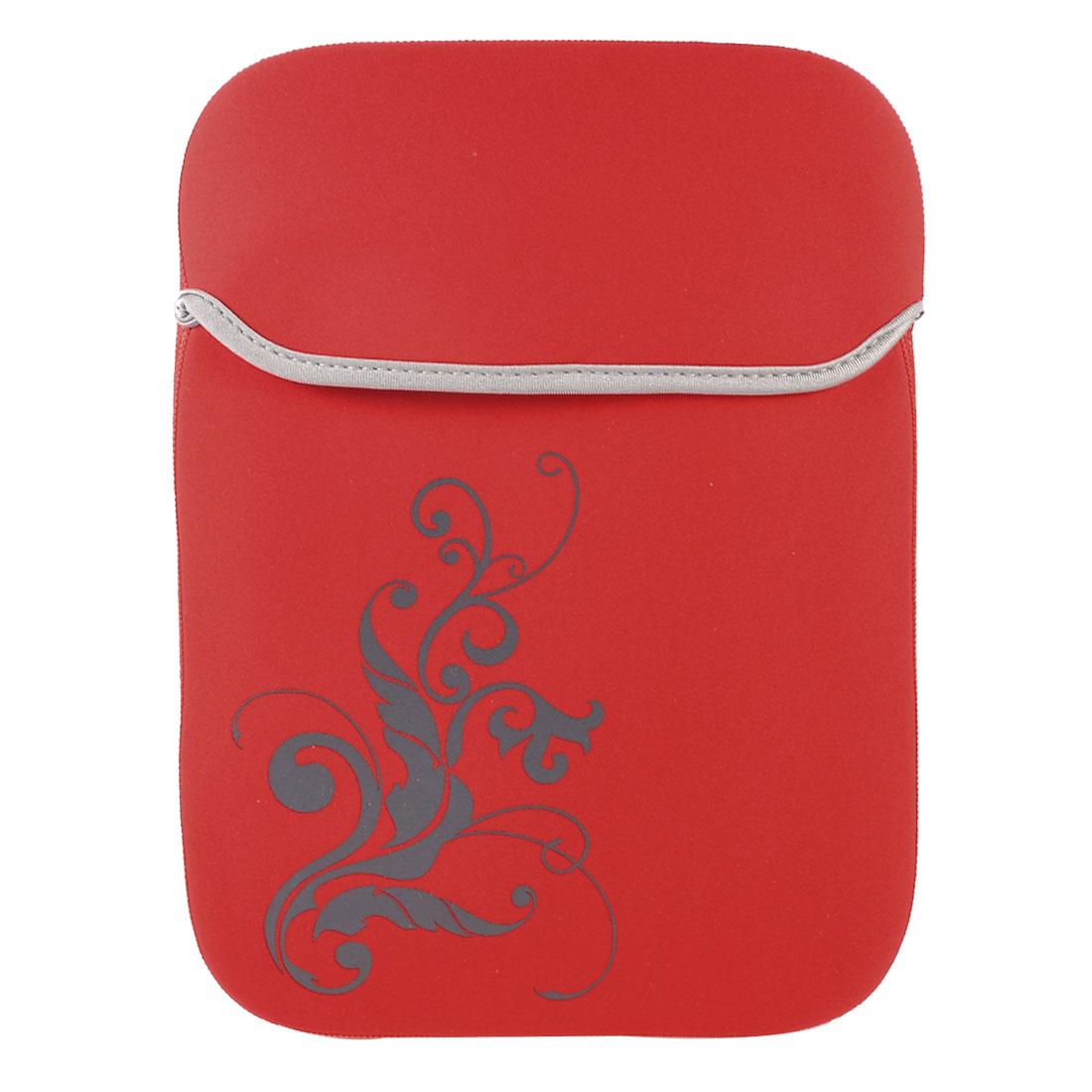 "10"" 10.1"" Tablet Netbook Laptop Flower Red Neoprene Sleeve Bag Case Pouch"