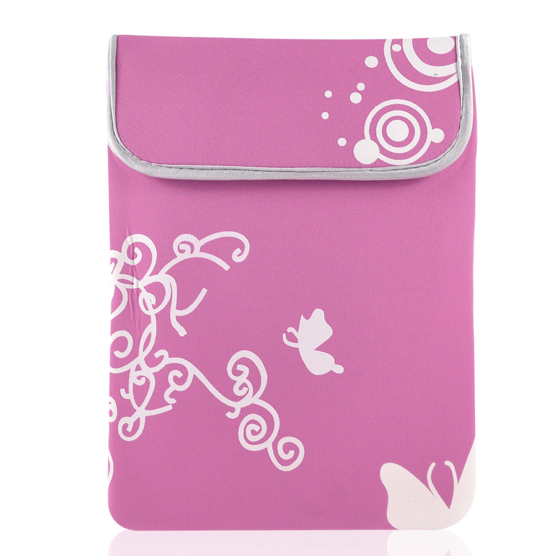 "11.6"" 12"" Laptop White Butterfly Swirl Pink Neoprene Sleeve Bag Case Pouch"