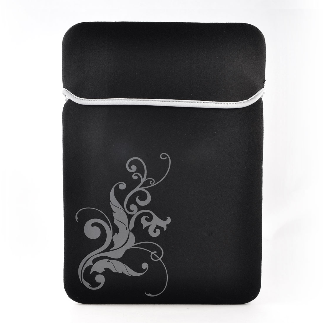 "14"" 14.1"" Laptop Computer Flower Black Neoprene Sleeve Bag Case Pouch"