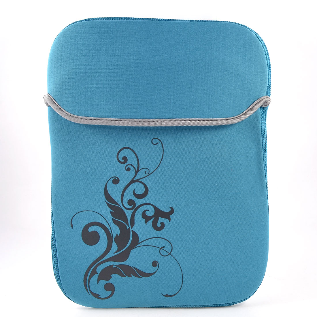 "11.6"" 12"" Tablet Laptop Flower Pattern Sky Blue Neoprene Sleeve Bag Case Pouch"