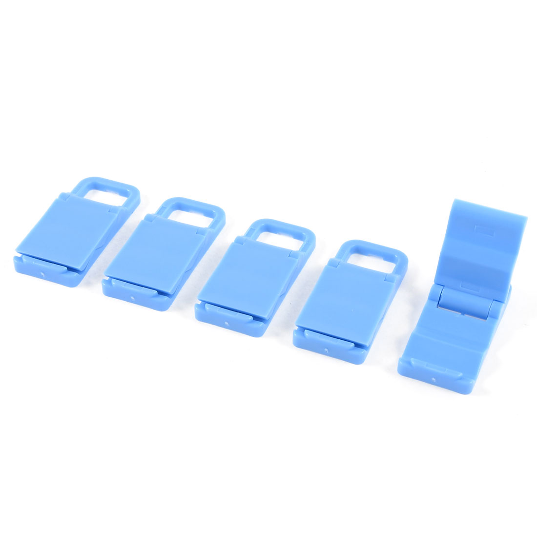 5 Pcs Sky Blue Plastic Foldable Stand Holder for MP4 Mobile Phone