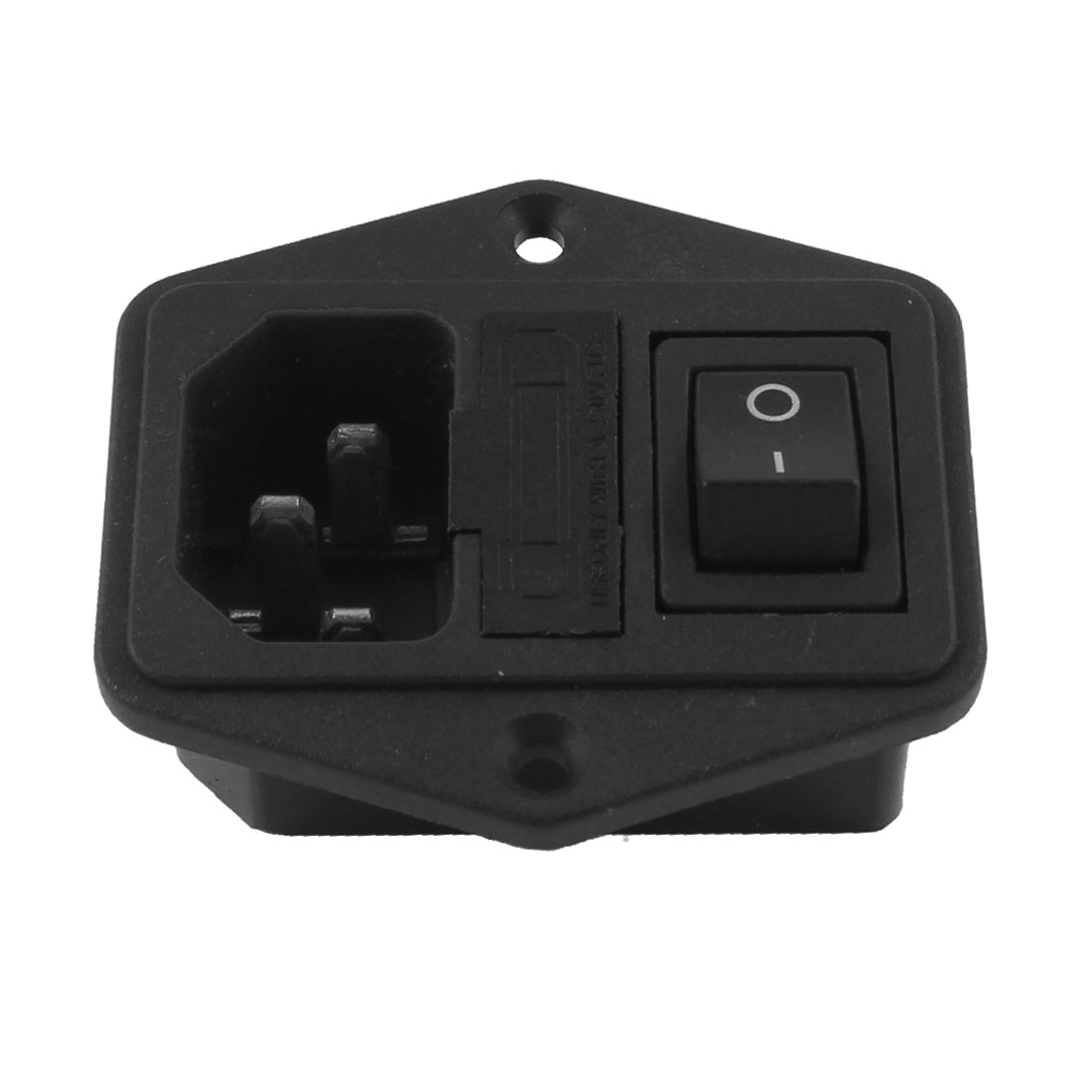 Replacement IEC C13 Black Fused Power Socket w Switch AC 10A 250V