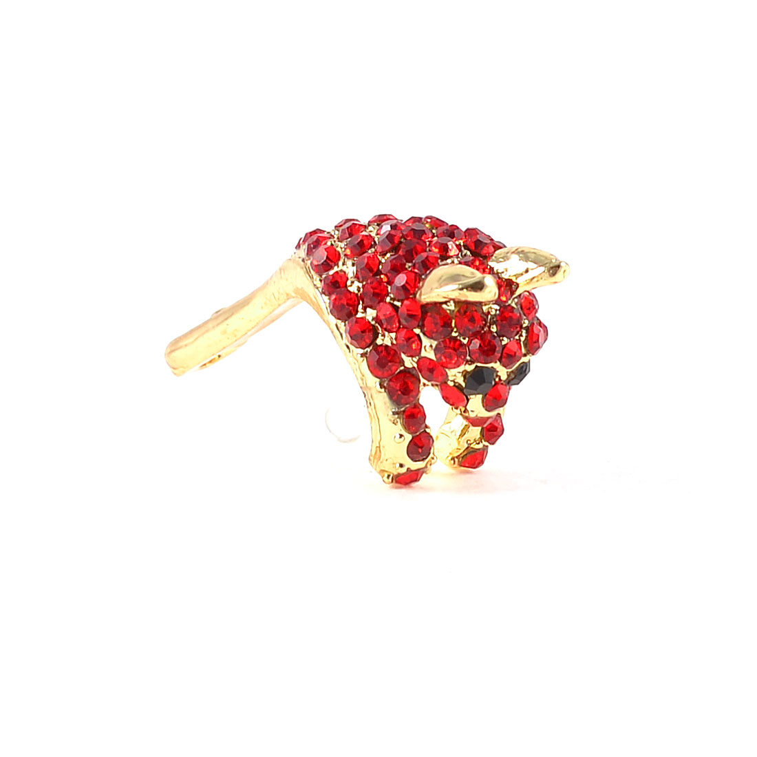 Red Rhineatone Palm Civet 3.5mm Jack Dust Plug Stopper Earphone Ear Cap for Mp4