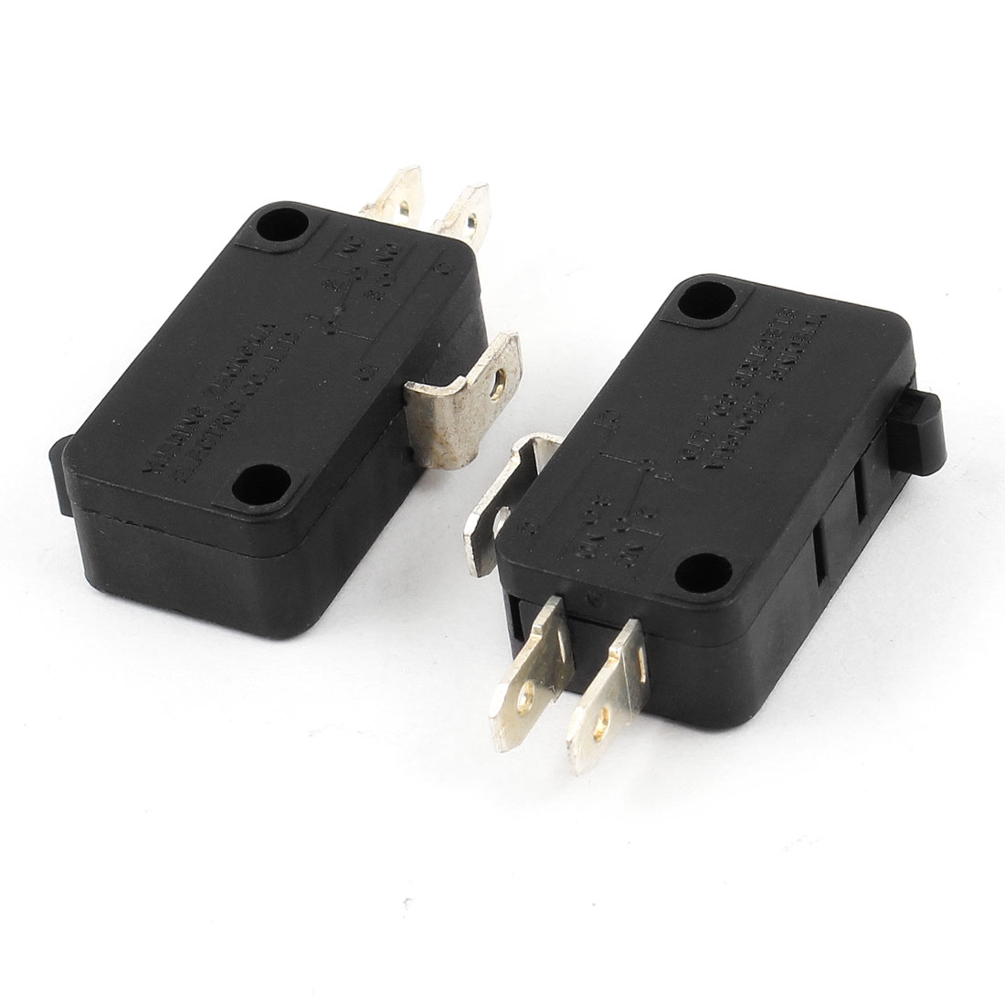 AC 250V/6A 125V/15A Momentary 1NO 1NC SPDT Push Button Micro Switch 3 Pin 2 Pcs