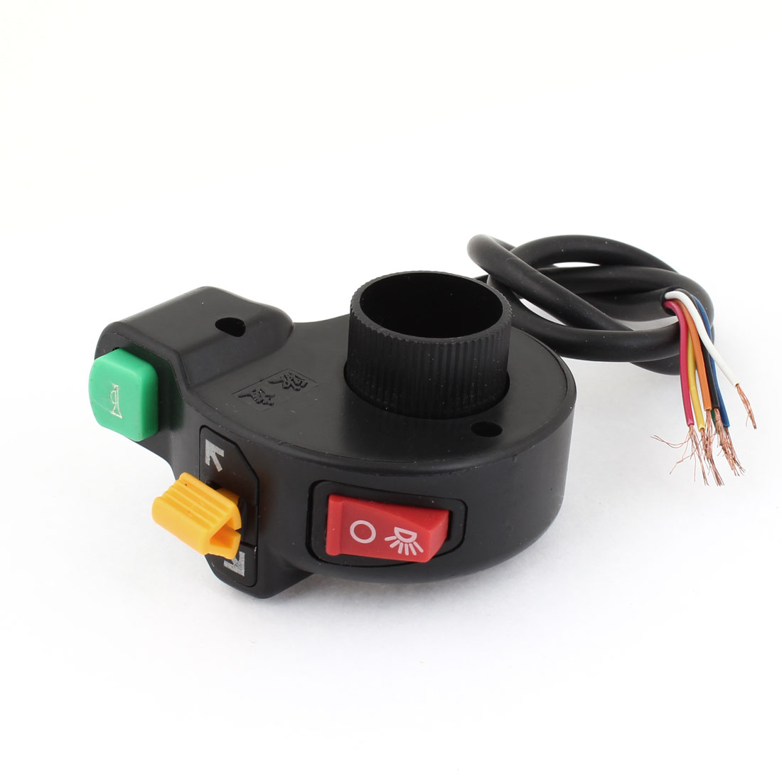 Electric Bicycle Head Lamp Direction Horn Combined Switch Black