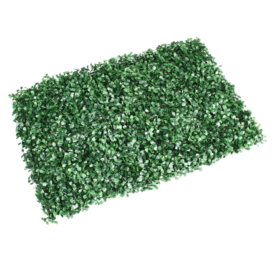 Fish Tank Plastic Base Manmade Rectangle Lawn Grass Plants Green 24 x 16 Inch