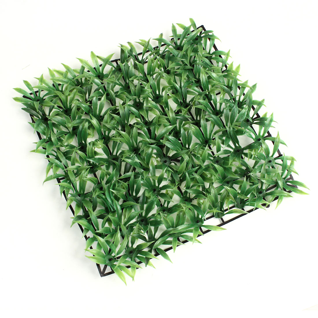 "9.8"" x 9.8"" Plastic Base Artificial Green Plastic Lawn Grass for Aquarium"