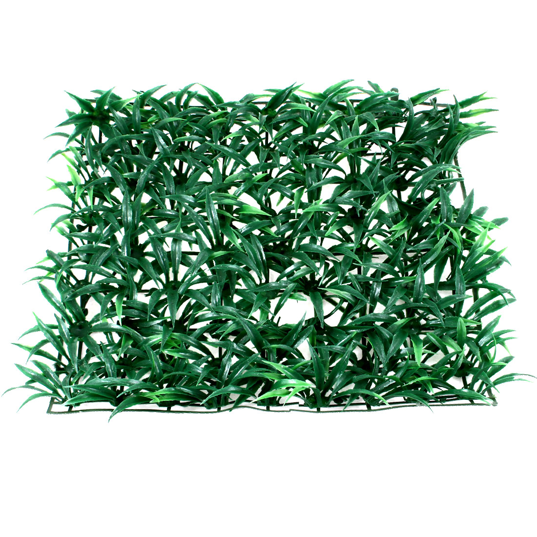 "Aquarium Green Plastic Grass Lawn Mat Turf Ornament 9.8"" x 9.8"""