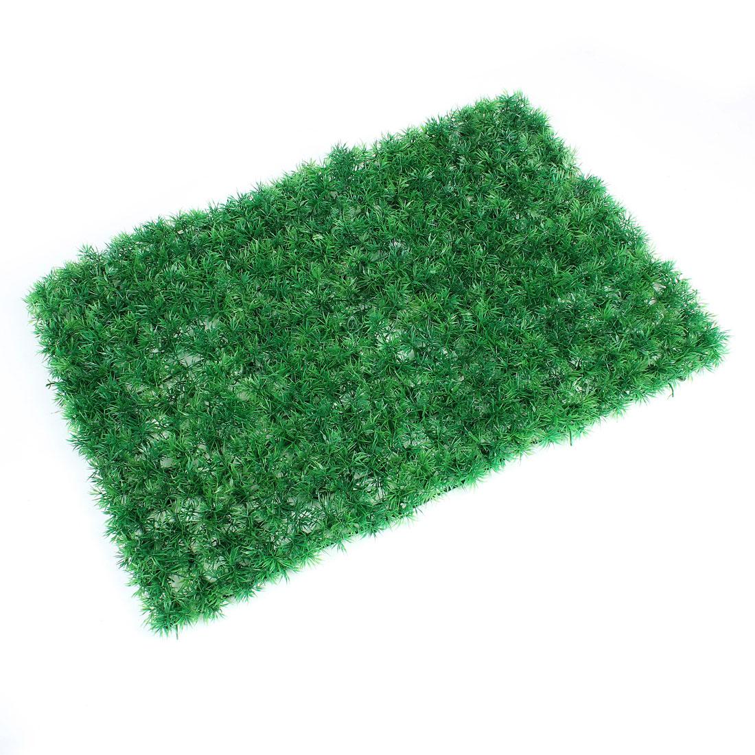 "23"" x 15.5"" Green Rectangle Artificial plastic Lawn Grass for Aquarium Tank"