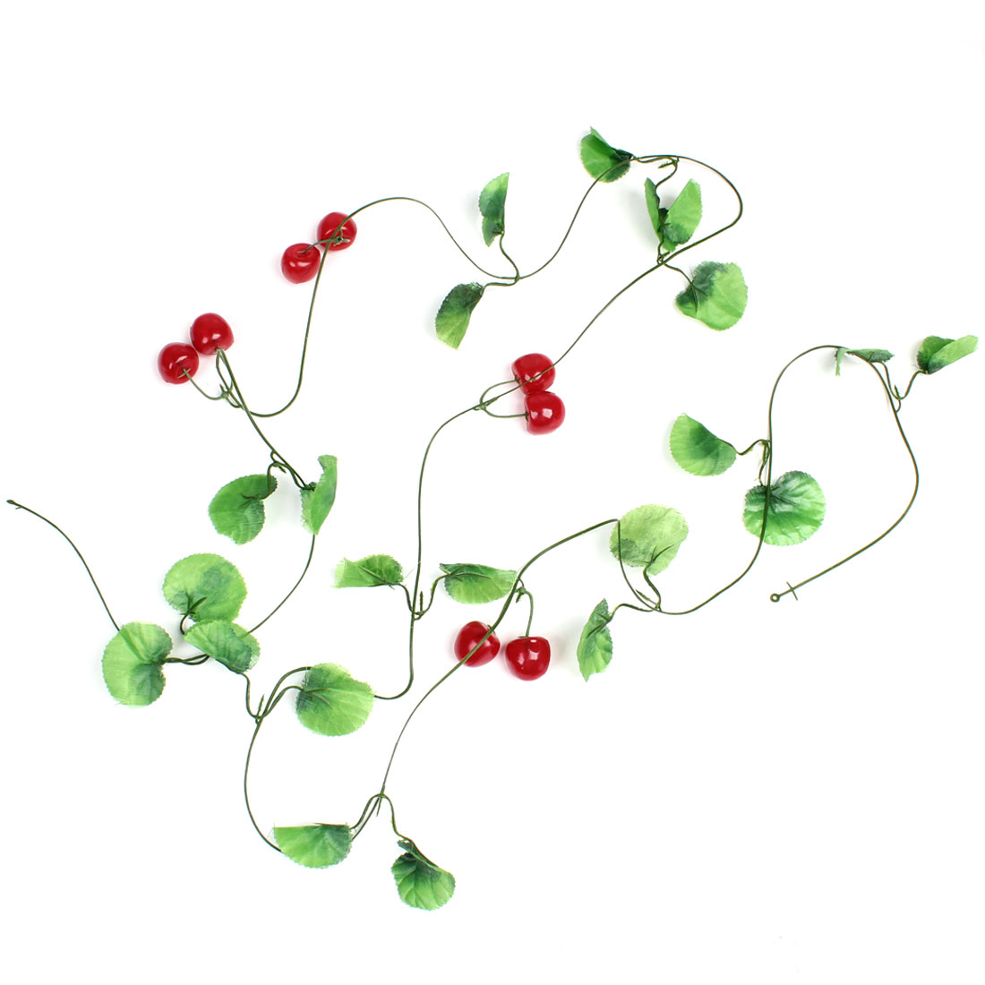 8.1Ft Length Cherry Decor Artificial Green Leaf Ivy for Home Party Decorating