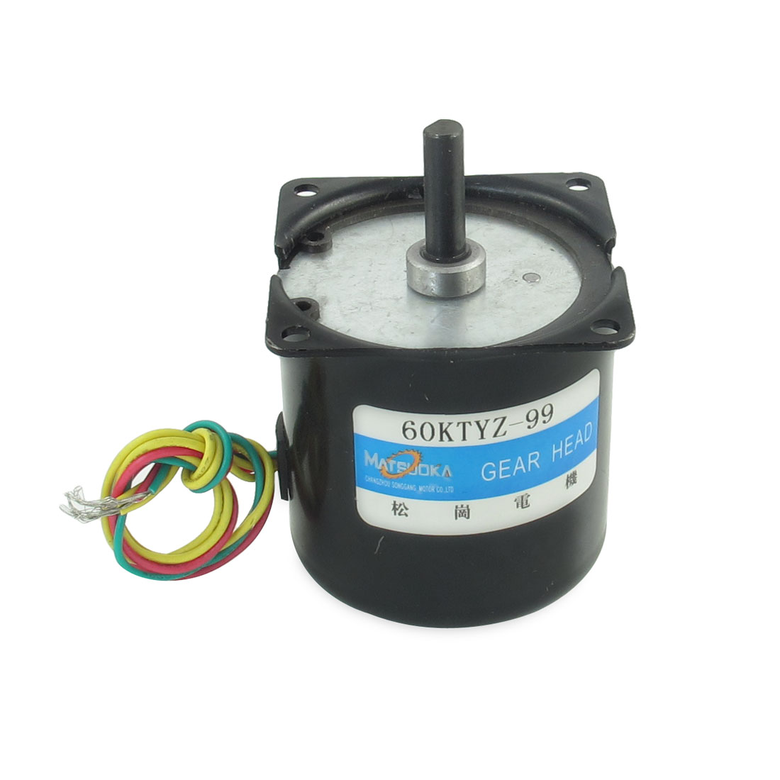 Black 220V 99RPM Rotated Speed Synchronous Reduction Gear Box Motor 50HZ